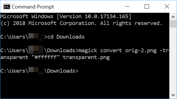 Windows command prompt with magick command